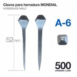 CLAVOS PARA HERRADURA MONDIAL A-6 500uds