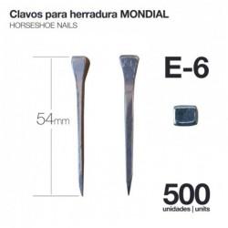 CLAVOS PARA HERRADURA MONDIAL E-6 500uds