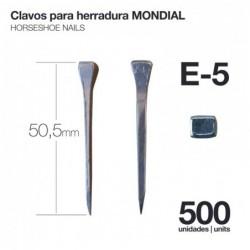 CLAVOS PARA HERRADURA MONDIAL E-5 500uds