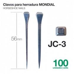 CLAVOS PARA HERRADURAS MONDIAL JC-3 100uds
