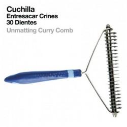 CUCHILLA ENTRESACAR CRINES 30-DIENTES 838 AZUL Ref: 21030370005