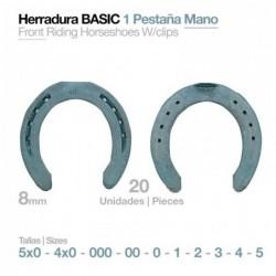 HERRADURA BASIC 1 PESTAÑA MANO 20UDS