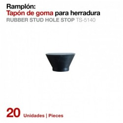 RAMPLÓN TAPÓN GOMA PARA HERRADURA TS-5140 20UDS