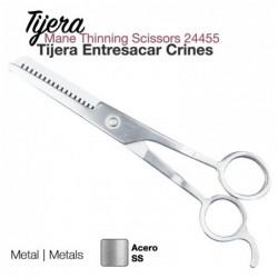 TIJERA ENTRESACAR CRINES INOX 24455