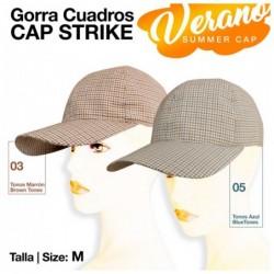 GORRA CAP STRIKE VERANO CUADRO t.M