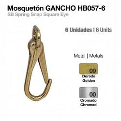 MOSQUETÓN GANCHO HB057-06 6uds
