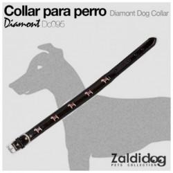 PERRO COLLAR DIAMONT DC095 NEGRO
