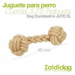 PERRO JUGUETE CUERDA ROBUSTA DE JUTE XL 12cm x 40cm