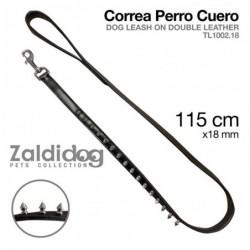 PERRO CORREA CUERO TL1002.18 115cm X 18mm NEGRO