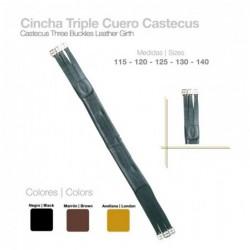 CINCHA TRIPLE CUERO CASTECUS