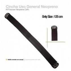 CINCHA USO GENERAL NEOPRENO ECONÓMICA NEGRO 125cm