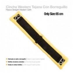 CINCHA WESTERN TEJANA NYLON CON BORREGUILLO 65cm