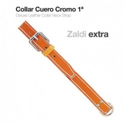 COLLAR CUERO CROMO 1ª ZALDI EXTRA