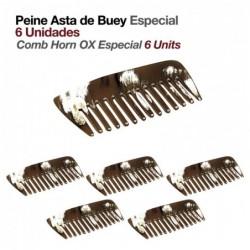 PEINE ASTA DE BUEY ESPECIAL 6uds