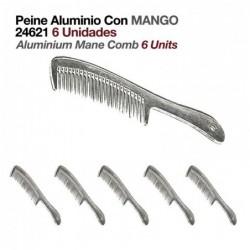 PEINE ALUMINIO CON MANGO 24621 6uds