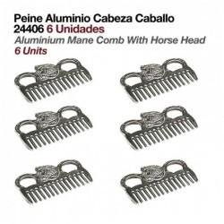 PEINE ALUMINIO CABEZA CABALLO 24406 6uds