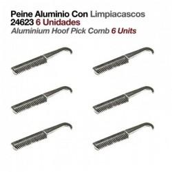 PEINE ALUMINIO CON LIMPIACASCOS 24623 6uds