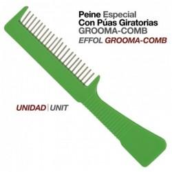 PEINE ESPECIAL CON PÚAS GIRATORIAS GROOMA-COMB