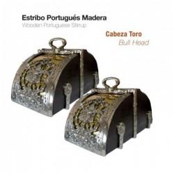 ESTRIBO PORTUGUÉS MADERA CABEZA TORO