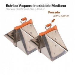 ESTRIBO VAQUERO INOXIDABLE FORRADO MEDIANO