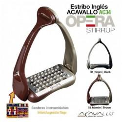 ESTRIBO INGLÉS ACAVALLO OPERA AC601