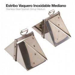 ESTRIBO VAQUERO INOXIDABLE MEDIANO