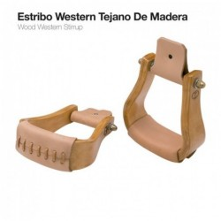 ESTRIBO WESTERN TEJANO DE MADERA 221625+L