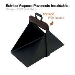 ESTRIBO VAQUERO PAVONADO INOX 22151SMK+L