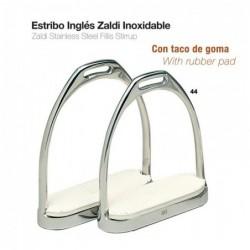 ESTRIBO INGLÉS ZALDI INOX CON TACO 22108-44