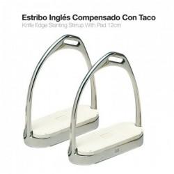 ESTRIBO INGLÉS INOX COMPENSADO CON TACO 22117 12cm