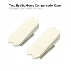 TACO ESTRIBO COMPENSADO 22003R 12cm BLANCO PAR