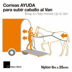 CORREAS AYUDA PARA SUBIR CABALLO AL VAN