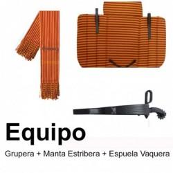 Equipo Manta Estribera + Grupera + Espuela Vaquera