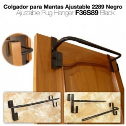 COLGADOR PARA MANTAS AJUSTABLE 2289 NEGRO