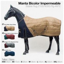 MANTA BICOLOR IMPERMEABLE