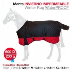 MANTA INVIERNO IMPERMEABLE 600D ROJO
