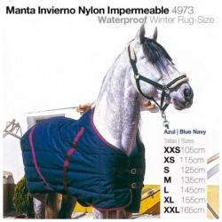 MANTA INVIERNO NYLON IMPERMEABLE 4973 AZUL