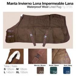 MANTA INVIERNO LONA IMPERMEABLE LANA