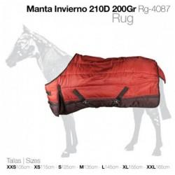 MANTA INVIERNO 210D 200gr RG-4087 VERDE / TEJA