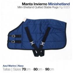 MANTA INVIERNO MINISHETLAND 70cm AZUL