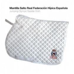 MANTILLA SALTO REAL FEDERACIÓN HÍPICA ESPAÑOLA BLANCO