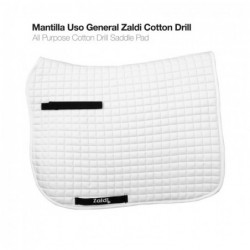 MANTILLA USO GENERAL ZALDI COTTON DRILL BLANCO