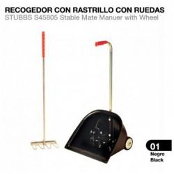 RECOGEDOR CON RASTRILLO CON RUEDAS STUBBS S45805