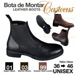 BOTINA CUERO CASTECUS ECONÓMICA