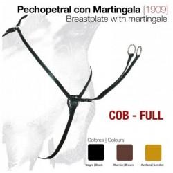 PECHOPETRAL CUERO CON MARTINGALA 1909