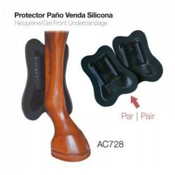 PROTECTOR PAÑO VENDA SILICONA AC728 NEGRO
