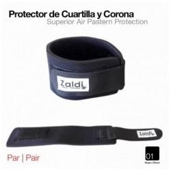 PROTECTOR DE CUARTILLA Y CORONA ZALDI NEGRO