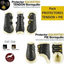 PACK PROTECTOR EQUESTRO PIE + TENDON BORREGUILLO