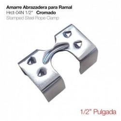 """AMARRE ABRAZADERA PARA RAMAL HRCT-04N 1/2"""" CROMADO"""