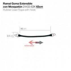 RAMAL GOMA EXTENSIBLE CON MOSQUETÓN 24433-63K 63cm